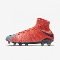 Chaussures de sport Nike Hypervenom Phantom 3 DF FG femme Gris loup/Orange max/Melon brillant/Violet dynastie