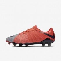 Chaussures de sport Nike Hypervenom Phantom 3 FG femme Gris loup/Orange max/Melon brillant/Violet dynastie