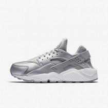 Chaussures de sport Nike Air Huarache SE femme Argent métallique/Platine pur/Blanc sommet/Argent mat