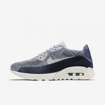 Chaussures de sport Nike Air Max 90 Ultra 2.0 Flyknit PNCL femme Brouillard d'océan/Platine pur
