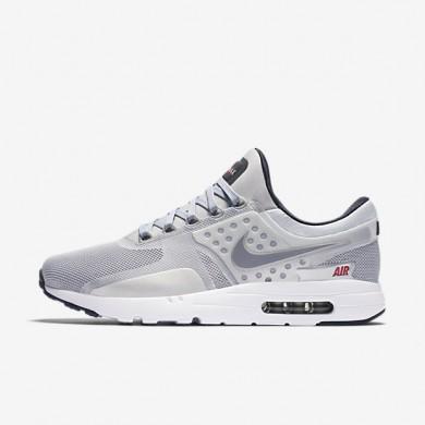 Chaussures de sport Nike Air Max Zero homme Argent métallique/Rouge université/Noir/Argent métallique