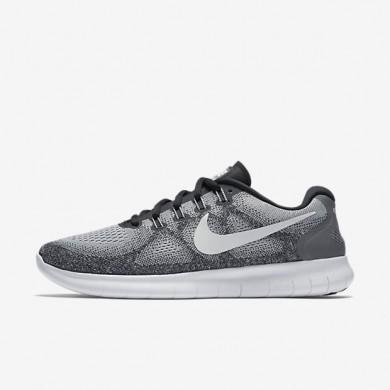 Chaussures de sport Nike Free RN 2017 homme Gris loup/Platine pur/Noir/Blanc cassé