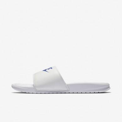 Chaussures de sport Nike Benassi homme Blanc/Blanc/Royal éclatant