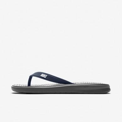 Chaussures de sport Nike Solay homme Gris foncé/Bleu nuit marine/Blanc