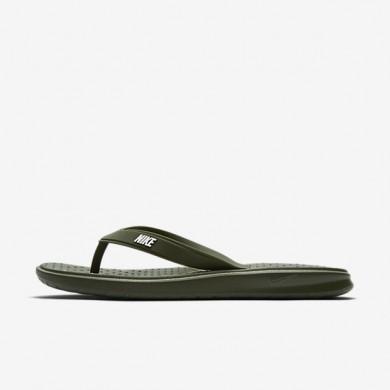 Chaussures de sport Nike Solay homme Kaki cargo/Blanc