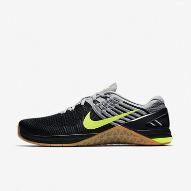 Chaussures de sport Nike Metcon DSX Flyknit homme Gris loup/Gris loup/Noir/Volt