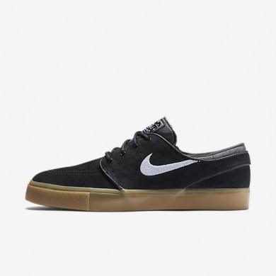 Chaussures de sport Nike SB Zoom Stefan Janoski homme Noir/Gomme marron clair/Blanc