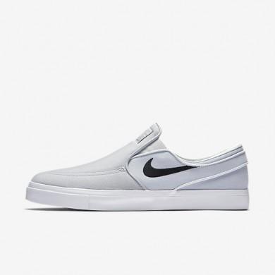 Chaussures de sport Nike SB Zoom Stefan Janoski Slip-On Canvas homme Gris loup/Platine pur/Noir