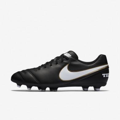 Chaussures de sport Nike Tiempo III FG homme Noir/Blanc
