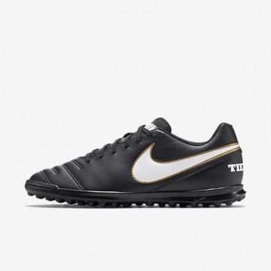 Chaussures de sport Nike Tiempo Rio III homme Noir/Blanc