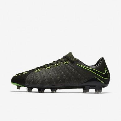Chaussures de sport Nike Hypervenom Phantom 3 Tech Craft FG homme Noir/Séquoia/Vert feuille de palmier/Vert électrique