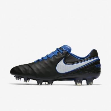 Chaussures de sport Nike Tiempo Legend VI FG homme Noir/Bleu électrique/Blanc/Blanc