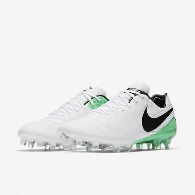 Chaussures de sport Nike Tiempo Legend VI FG homme Blanc/Vert Electro/Noir