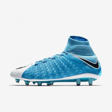 Chaussures de sport Nike Hypervenom Phantom 3 DF AG-PRO homme Blanc/Bleu photo/Bleu chlorine/Noir