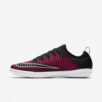 Chaussures de sport Nike MercurialX Finale II IC homme Rouge équipe/Rose coureur/Blanc/Noir