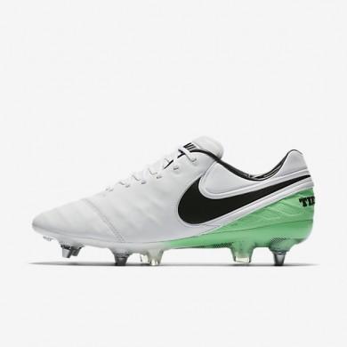 Chaussures de sport Nike Tiempo Legend VI SG-PRO homme Blanc/Vert Electro/Noir