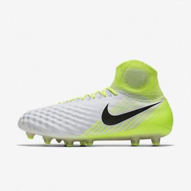 Chaussures de sport Nike Magista Obra II AG-PRO homme Blanc/Volt/Platine pur/Noir