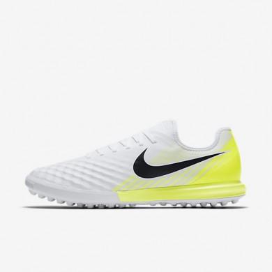 Chaussures de sport Nike MagistaX Finale II TF homme Blanc/Volt/Noir