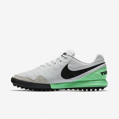Chaussures de sport Nike TiempoX Proximo TF homme Platine pur/Vert Electro/Noir