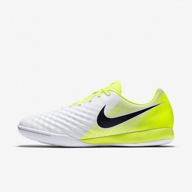 Chaussures de sport Nike Magista Onda II IC homme Blanc/Volt/Platine pur/Noir