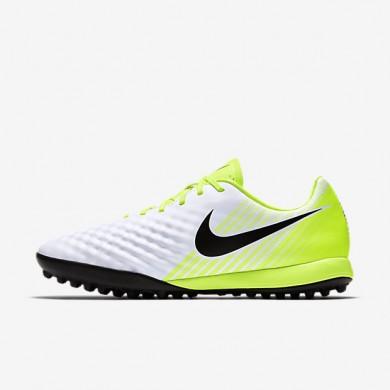 Chaussures de sport Nike Magista Onda II TF homme Blanc/Volt/Platine pur/Noir