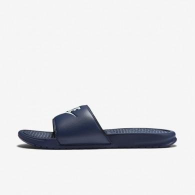 Chaussures de sport Nike Benassi homme Bleu nuit marine/Refroidissement éolien