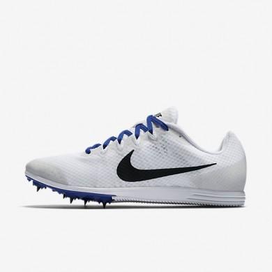 Chaussures de sport Nike Zoom Rival D 9 homme Blanc/Bleu coureur/Noir