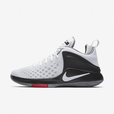 Chaussures de sport Nike LeBron Witness homme Blanc/Noir/Gris froid/Blanc