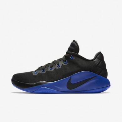 Chaussures de sport Nike Hyperdunk 2016 Low homme Noir/Gris foncé/Bleu électrique