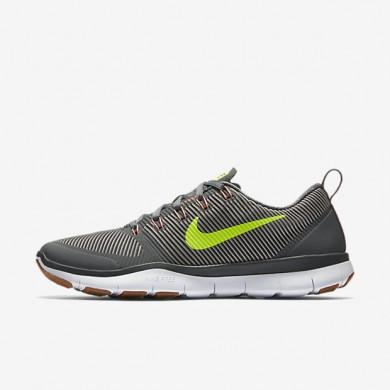 Chaussures de sport Nike Free Train Versatility homme Gris foncé/Gris pâle/Rouge lave brillant/Volt