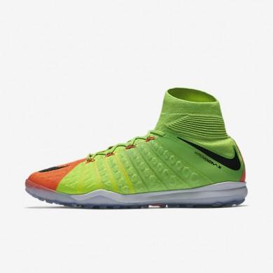 Chaussures de sport Nike HypervenomX Proximo II Dynamic Fit TF homme Vert électrique/Hyper orange/Volt/Noir