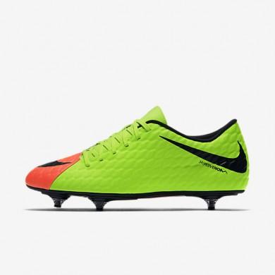 Chaussures de sport Nike Hypervenom Phade III SG homme Vert électrique/Hyper orange/Volt/Noir