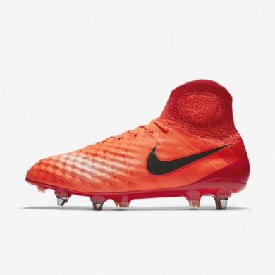 Chaussures de sport Nike Magista Obra II SG-PRO homme Cramoisi total/Rouge université/Mangue brillant/Noir