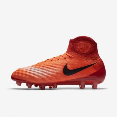 Chaussures de sport Nike Magista Obra II AG-PRO homme Cramoisi total/Rouge université/Mangue brillant/Noir