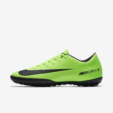Chaussures de sport Nike Mercurial Victory VI TF homme Vert électrique/Citron flash/Blanc/Noir