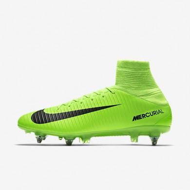 Chaussures de sport Nike Mercurial Veloce III SG-PRO homme Vert électrique/Citron flash/Blanc/Noir