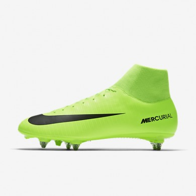 lowest price 7c3a8 c81ad Chaussures de sport Nike Mercurial Victory VI Dynamic Fit SG homme Vert  électrique Citron flash