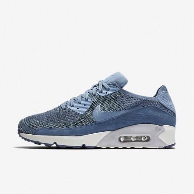 Chaussures de sport Nike Lab Air Max 90 Flyknit homme Brouillard d'océan/Platine pur/Voile/Bleu toile