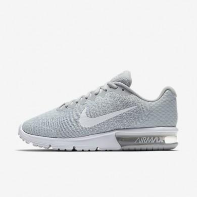 Chaussures de sport Nike Air Max Sequent 2 femme Platine pur/Gris loup/Platine métallisé/Blanc