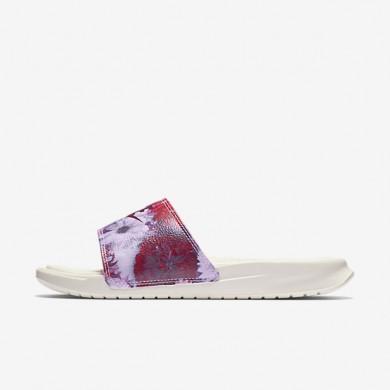 Chaussures de sport Nike Benassi Just Do It Ultra Premium femme Voile/Bordeaux/Rose prisme