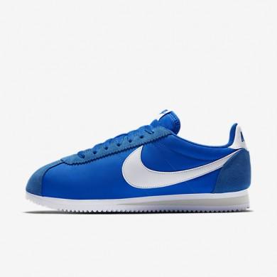 pretty nice a9638 b8316 Chaussures de sport Nike Classic Cortez Nylon femme Bleu photo Gris  pâle Blanc