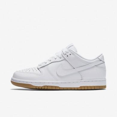 Chaussures de sport Nike Dunk Low femme Blanc/Platine pur/Gomme marron clair/Blanc