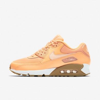 Chaussures de sport Nike Air Max 90 femme Crépuscule brillant/Gomme marron clair/Teinte coucher de soleil