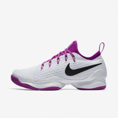 Chaussures de sport Nike Court Air Zoom Ultra React femme Blanc/Mauve vif/Noir