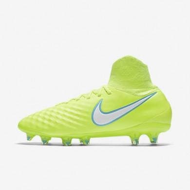Chaussures de sport Nike Magista Orden II FG femme Volt/Jaune pâle électrique/Blanc