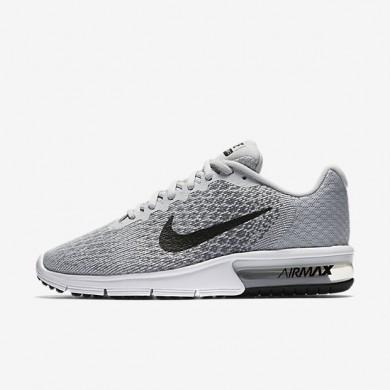 Chaussures de sport Nike Air Max Sequent 2 femme Platine pur/Gris froid/Gris loup/Noir