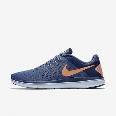 Chaussures de sport Nike Flex 2016 RN femme Bleu lune/Bleu côtier/Teinte bleue/Crépuscule brillant