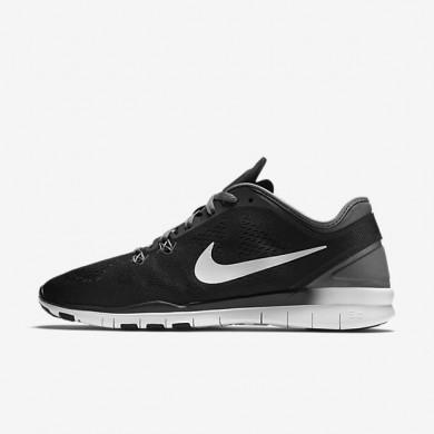 Chaussures de sport Nike Free TR 5 femme Noir/Gris foncé/Blanc/Blanc