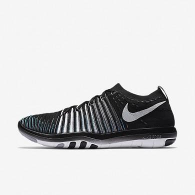 free shipping ce49d ab415 Chaussures de sport Nike Free Transform Flyknit femme Noir Gris loup Gris  foncé