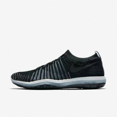Chaussures de sport Nike Lab Free Transform Flyknit femme Noir/Renard bleu/Platine pur/Noir